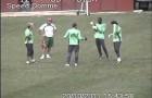 Câmera de segurança mostra treino do Fluminense