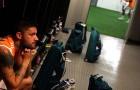 Rafael Sobis - Vestiário Fluminense x Palmeiras - NP - 13set2014