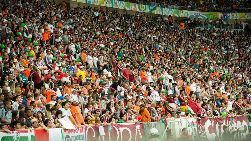 Torcida Fluminense Mané Garrincha - foto Nelson Perez 17.8.14