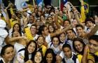 Seleção brasileira juvenil de natação (foto de Satiro Sodré/Divulgação CBDA)