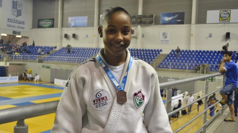 A judoca Suellen Silva